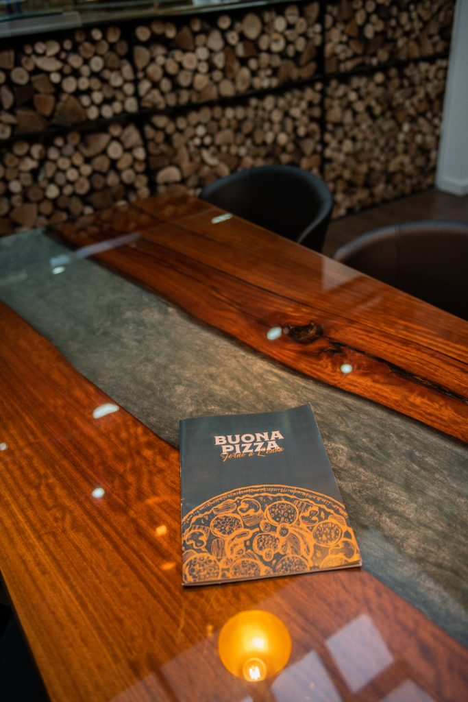 Menu on top of a table